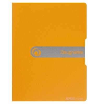 Zeugnismappe easy orga to go 11208378 orange A4 mit 20 Hüllen