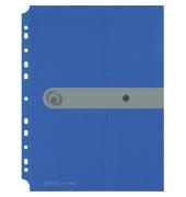Dokumententasche EasyOrga ToGo A4 blau opak bis 200 Blatt mit Abheftvorrichtung