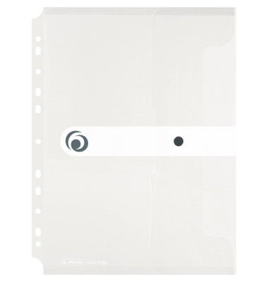 Dokumententasche EasyOrga ToGo A4 transparent bis 200 Blatt mit Abheftvorrichtung
