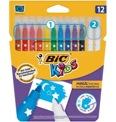 9202962 Kids Colour&Erase Zauber-Faserschreiber 12er