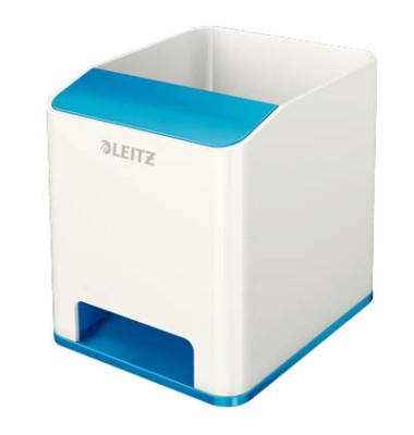 Leitz Stifteköcher 5363 Duo Colour WOW Sound weiß/blau metallic