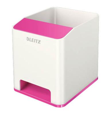 Leitz Stifteköcher 5363 Duo Colour WOW Sound weiß/pink metallic