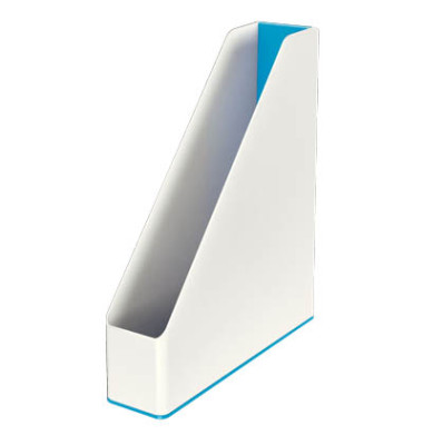Leitz Stehsammler 5362 Duo Colour WOW A4 weiß/blau metallic