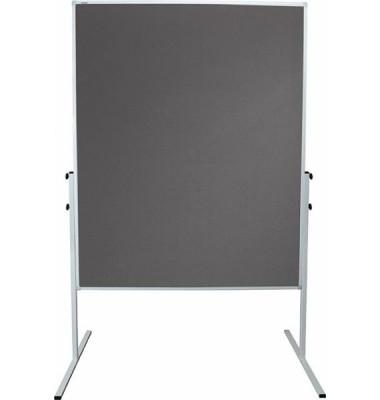 Moderationstafel X-tra! Line, 120x150cm, Filz + Filz (beidseitig), pinnbar, grau + grau