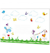 Schreibunterlage 30Bl 60x42cm Schreibunterlage Schmetterlinge