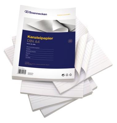 Kanzleipapier 5281 A3 auf A4 gefalzt liniert ohne Rand weiß 250 Blatt