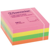 Haftnotizwürfel 5815 76x76mm 400Blatt neonfarben
