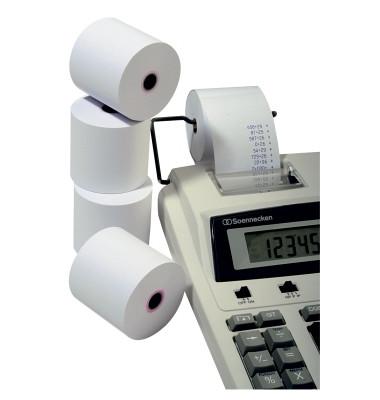 Papier-Kassenrolle 40 m 40 m lang weiß 76 mm breit