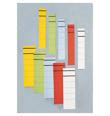 Ordneretikett breit/lang sk Papier weiß 10 Stück