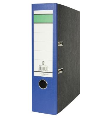 Recycling Ordner A4 Wolkenmarmor blau 80mm breit