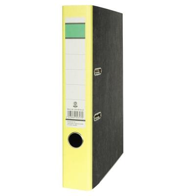 Recycling Ordner A4 Wolkenmarmor gelb 50mm schmal