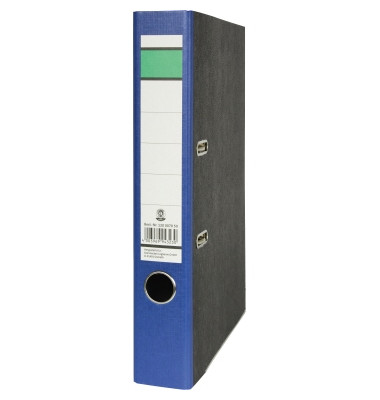 Recycling Ordner A4 Wolkenmarmor blau 50mm schmal