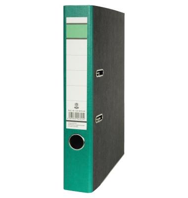 Recycling Ordner A4 Wolkenmarmor grün 50mm schmal
