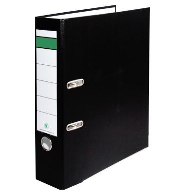 Ordner A4 schwarz 80mm breit Kunststoff