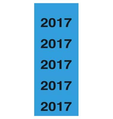 Jahreszahlen 2017 blau 60x28mm selbstklebend 100 Stück