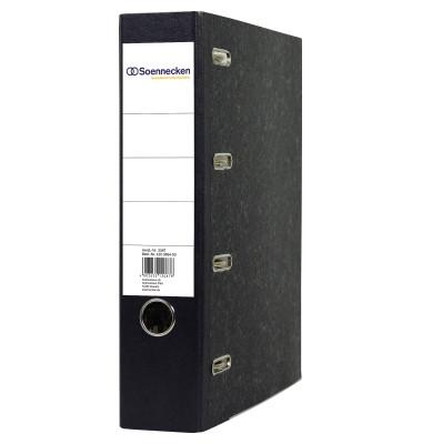 Doppelordner 3347 2xDIN A5 quer 75mm Pappe schwarz
