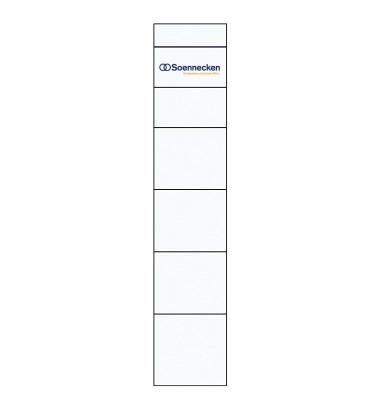 Einsteckrückenschild 3348 schmal/kurz weiß 10 St,./Pack.