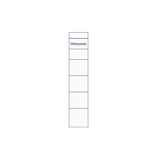 Soennecken einsteckr ckenschild 3348 schmal kurz wei 10 for Schreibtisch lang schmal