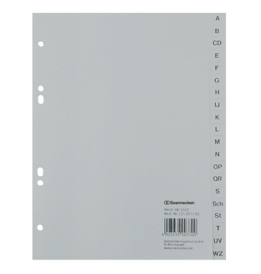 Register 1522 DIN A5 A-Z volle Höhe PP grau
