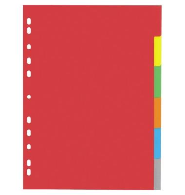 Kartonregister Register 31061-20 DIN A4 6teilig Karton farbig blanko