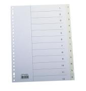 Register 2115 DIN A4 1-10 volle Höhe PP weiß