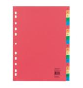 Kunststoffregister 1586 A-Z A4+ 0,12mm farbige Taben 20-teilig