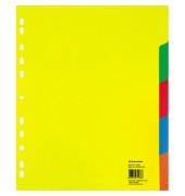 Register 1566 DIN A4 überbreit blanko 5teilig PP farbig