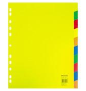 Register 1567 DIN A4 überbreit blanko 10teilig PP farbig