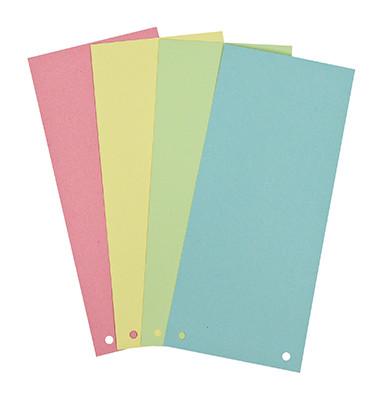 Soennecken Trennstreifen 1598 farbig sortiert gelocht 240x105mm 100 Blatt