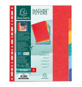Kartonregister XXL 2406E DIN A4 Manila-Karton 225g 6-teilig farbig blanko