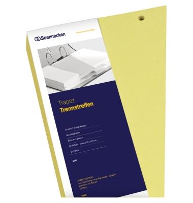 Trennstreifen 1626 Trapez gelb gelocht 240x125mm 100 Blatt