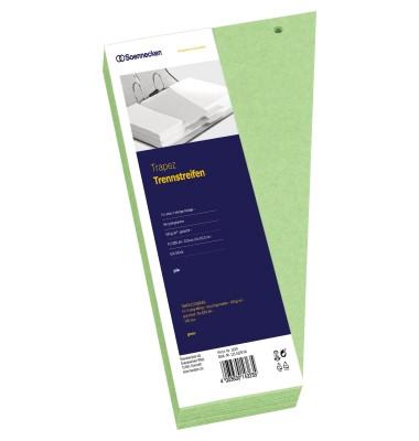 Trennstreifen 1629 Trapez grün gelocht 240x125mm 100 Blatt