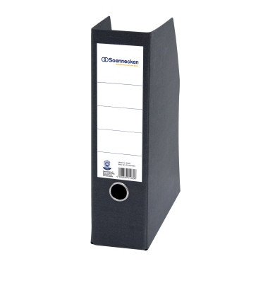 Stehsammler 2000 DIN A4 hoch 85mm Hartpappe schwarz