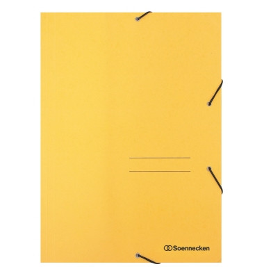 Eckspannmappe 1471 A4 390g gelb