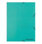Eckspanner 1474 DIN A4 3Klappen und Gummizug grün
