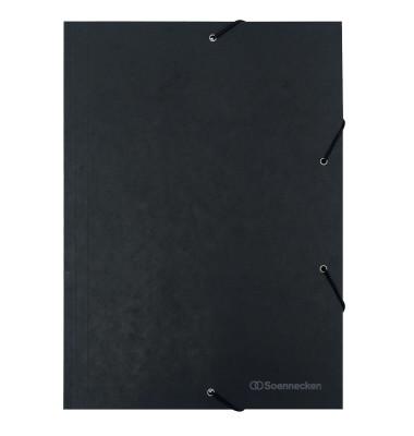 Eckspannmappe 1489 A4 390g schwarz