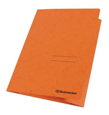 Sammelmappe 1480 DIN A4 3Klappen Karton orange