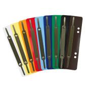 Heftstreifen kurz 3192, 34x150mm, Kunststoff mit Metalldeckleiste, farbig sortiert, 250 Stück