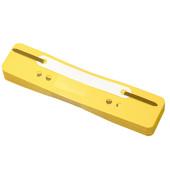 Heftstreifen kurz 3175, 34x150mm, Kunststoff mit Kunststoffdeckleiste, gelb, 25 Stück