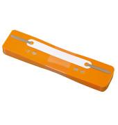 Heftstreifen kurz 3179, 34x150mm, Kunststoff mit Kunststoffdeckleiste, orange, 25 Stück