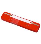Heftstreifen kurz 3170, 34x150mm, Kunststoff mit Kunststoffdeckleiste, rot, 25 Stück