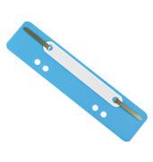 Heftstreifen kurz 3173, 34x150mm, Kunststoff mit Kunststoffdeckleiste, blau, 25 Stück