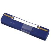 Heftstreifen kurz 3174, 34x150mm, Kunststoff mit Kunststoffdeckleiste, blau, 25 Stück