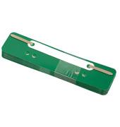 Heftstreifen kurz 3171, 34x150mm, Kunststoff mit Kunststoffdeckleiste, grün, 25 Stück