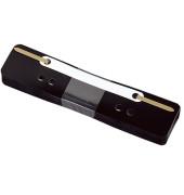 Heftstreifen kurz 3177, 34x150mm, Kunststoff mit Kunststoffdeckleiste, schwarz, 25 Stück