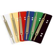 Heftstreifen kurz 3184, 34x150mm, Kunststoff mit Metalldeckleiste, blau, 25 Stück