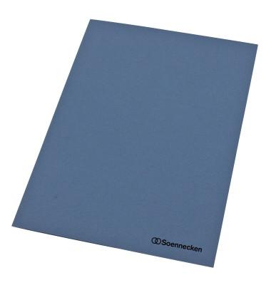 Aktendeckel 1280 A4 RC-Karton 250g blau