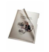 Sichthüllen 205000GR, A4, grau, transparent, glatt, 0,15mm, oben & rechts offen, PVC