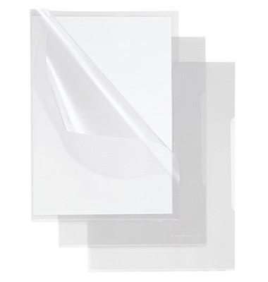Sichthüllen 1507, A5, farblos, transparent, genarbt, 0,12mm, oben & rechts offen, PP