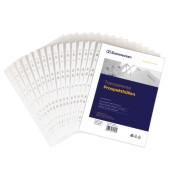 Prospekthüllen 1504 A4 transparent genarbt 60my oben und links offen 100 Stück